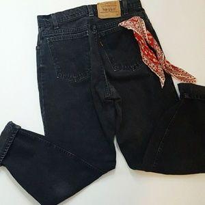 Vintage Levi's Orange Label Black Denim Mom Jeans